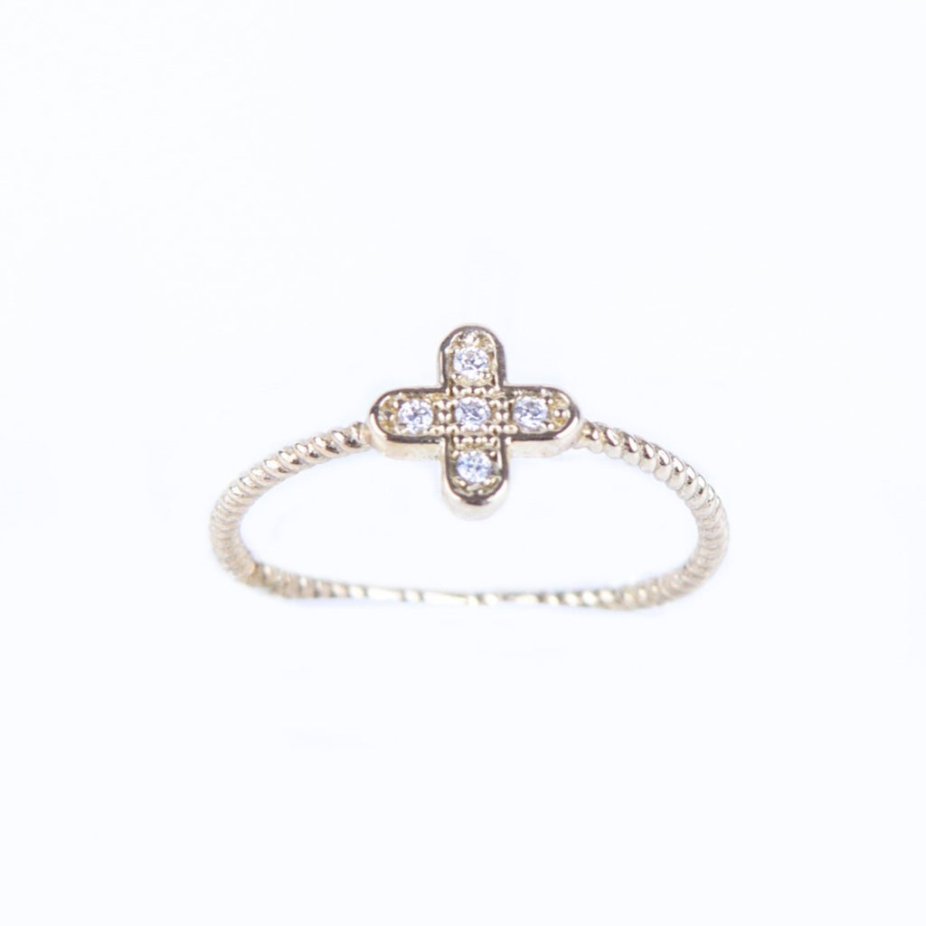 9κ Gold Cross Ring