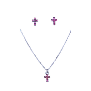 Sterling Silver 925o Cross  Set