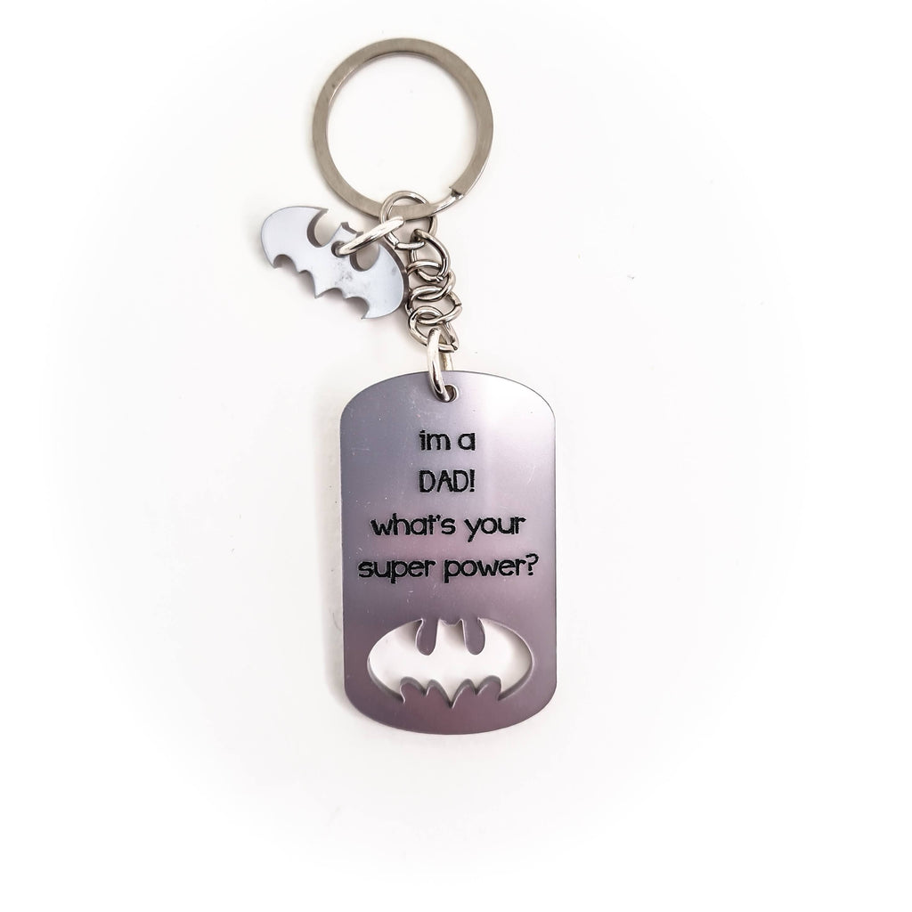 Plexiglass Key chain  batman dad