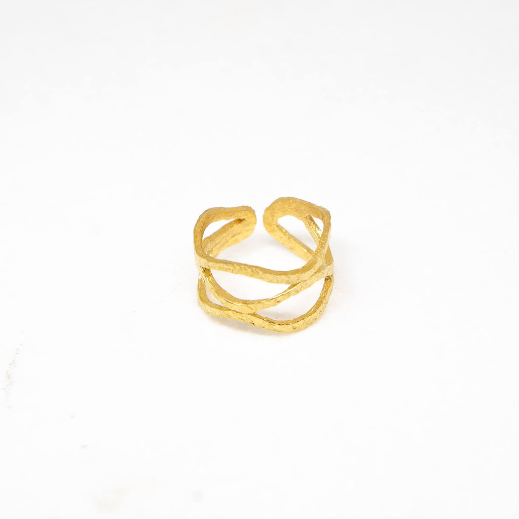 Brass ring in yellow