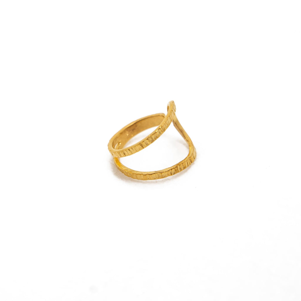 Brass ring round shape in yellow