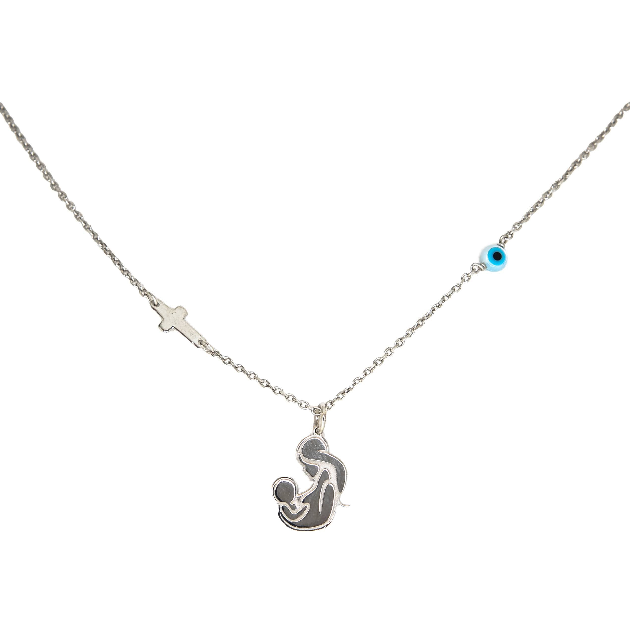 Sterling Silver Breastfeeding Mother Necklace