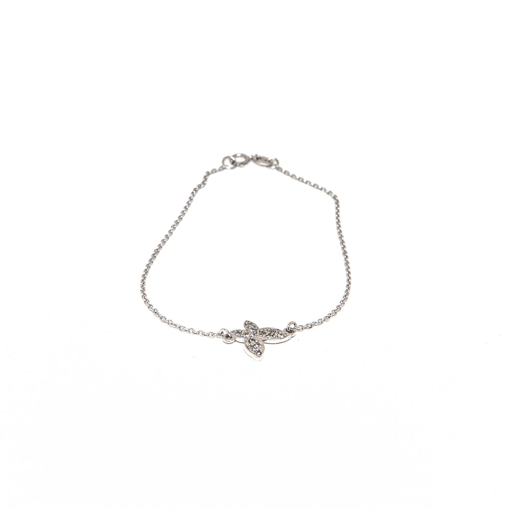9k white gold butterfly bracelet