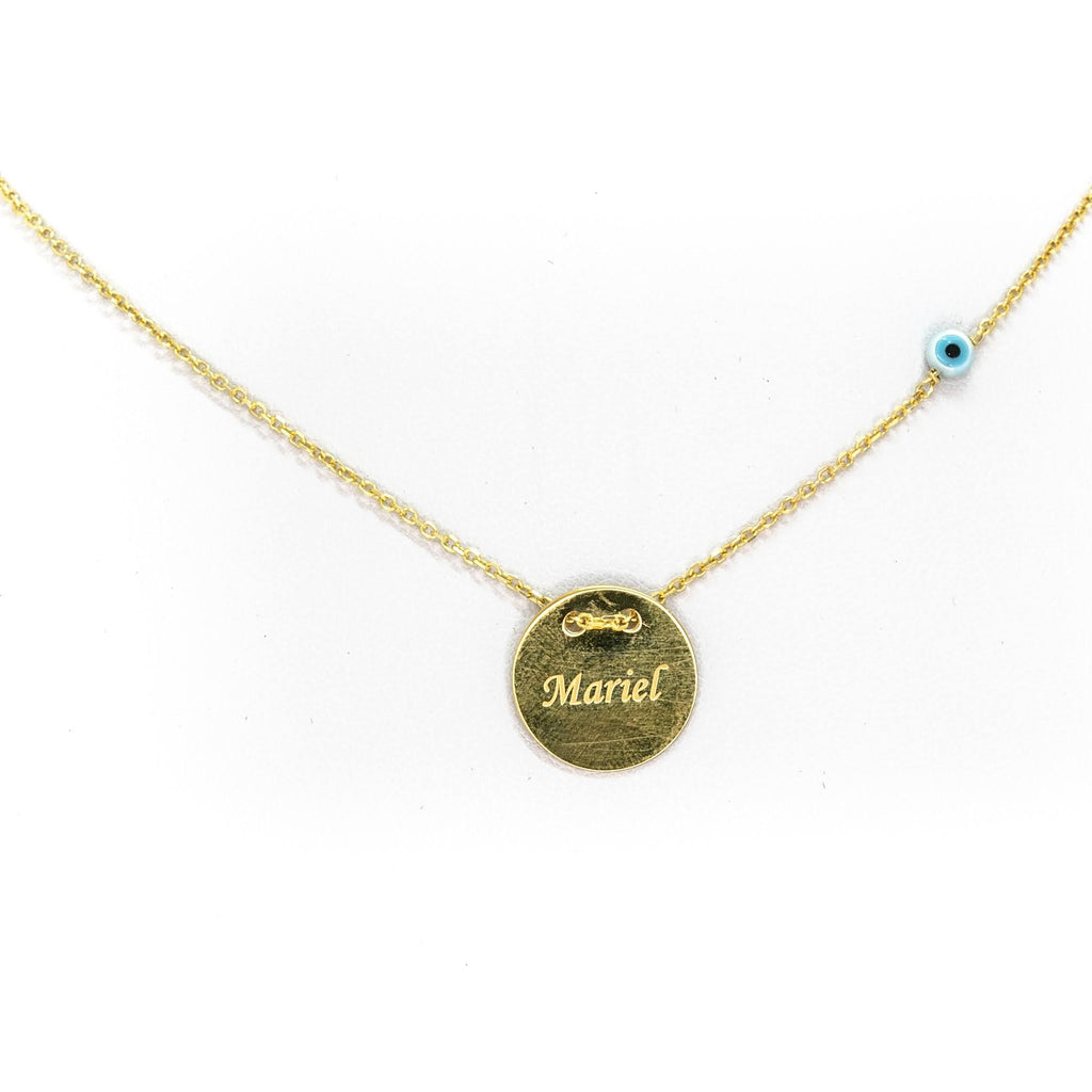 Personalised Sterling Silver Round Name Necklace
