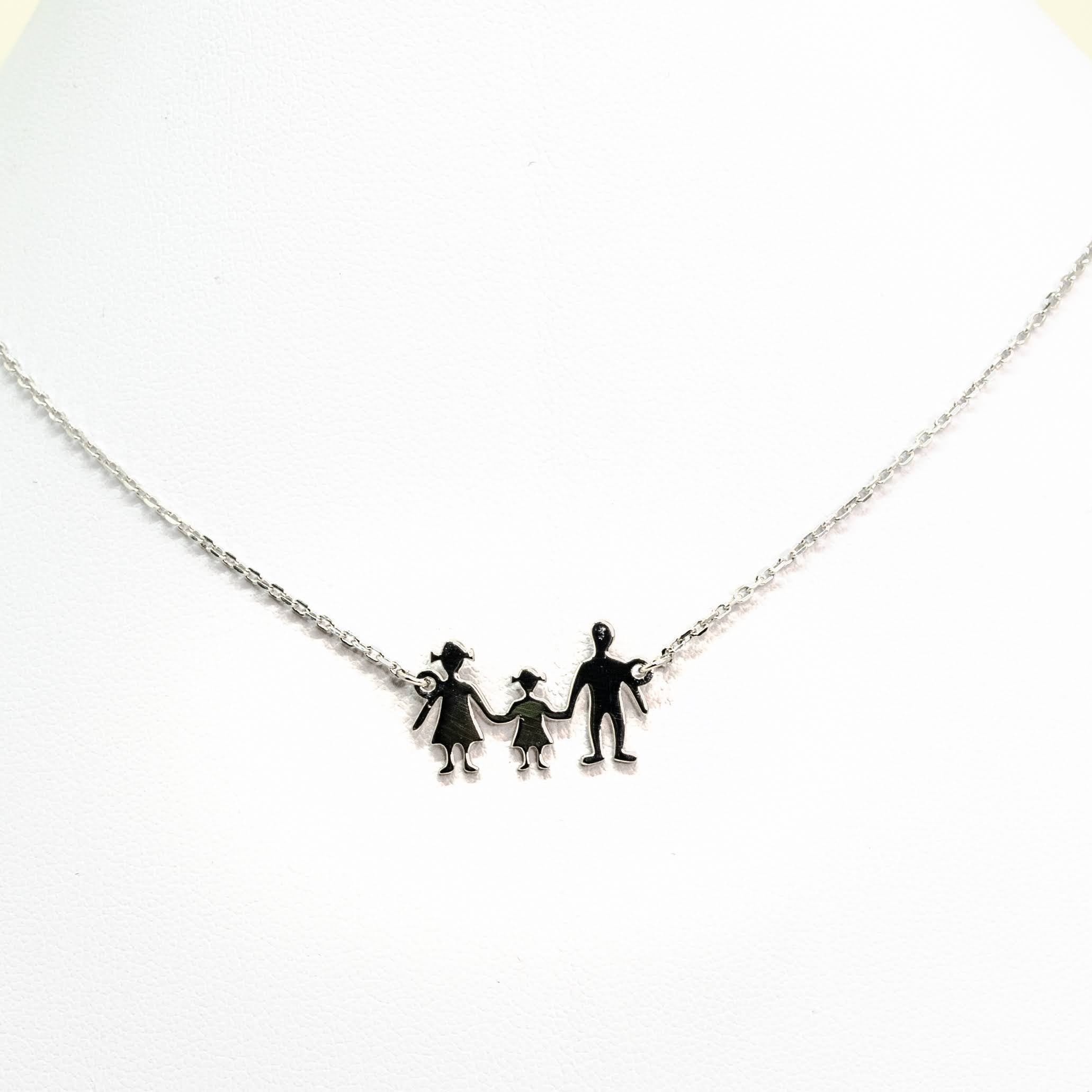 "Personalised Sterling Silver ""Family"" Necklace"