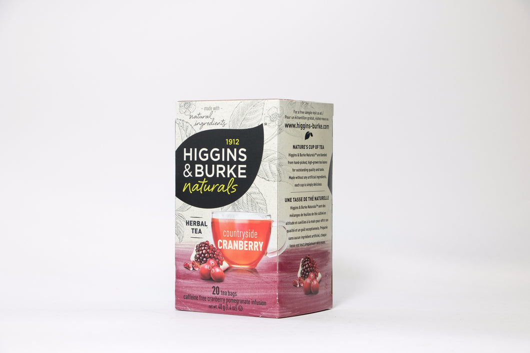 Higgins & Burke Countryside Cranberry Tea Bags