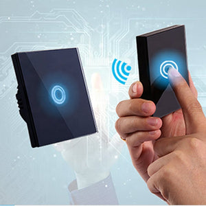 WiFi Smart Touch Switch 2 Gangs Golden AG-WF8603-2 - Next Systems