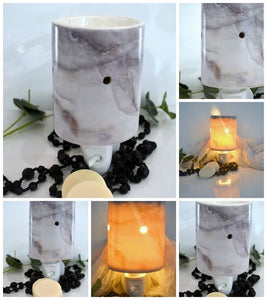 Marble look Plug In Wax Warmer