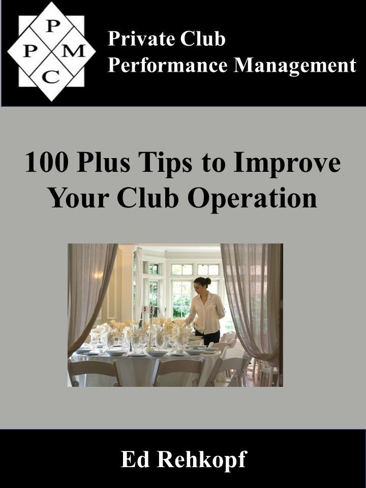 100 Plus Tips to Improve Your Club Operation (digital book)