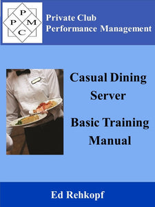 Casual Dining Server Basic Training Manual