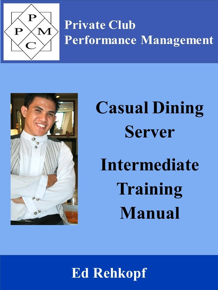 Casual Dining Server Intermediate Training Manual