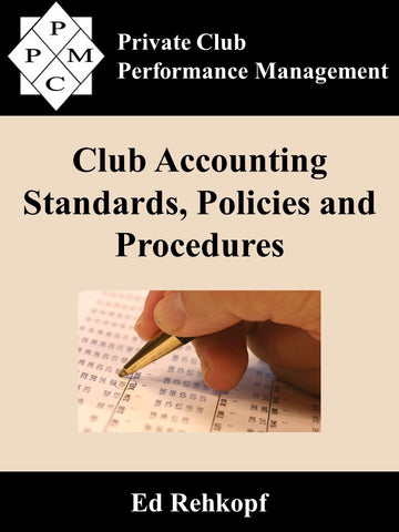 Club Accounting Standards, Policies and Procedures