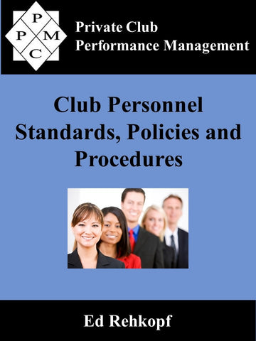 Club Personnel Standards, Policies and Procedures