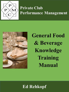General Food and Beverage Knowledge Training Manual
