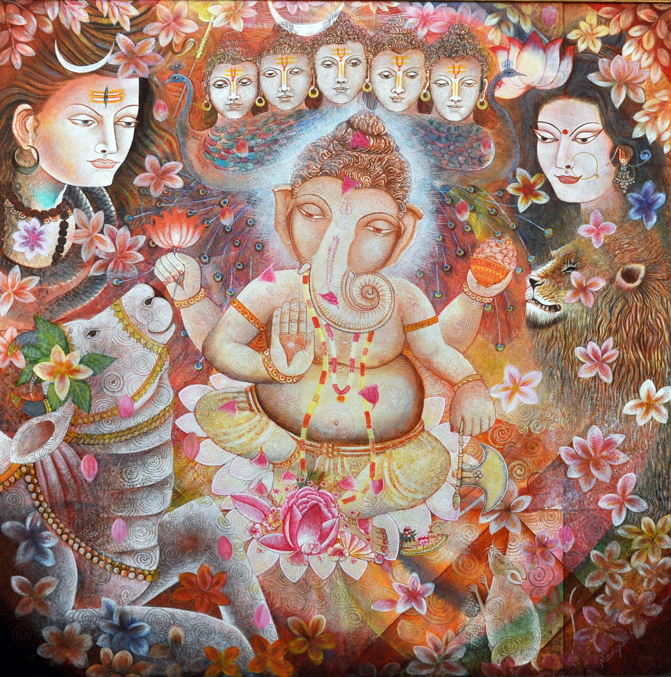 Family of Ganesha
