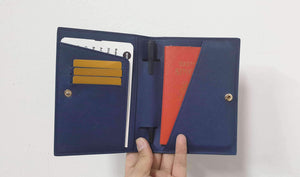 Personalised Saffiano Leather Passport Cover | TheImprint Singapore