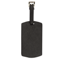 Black Saffiano Luggage Tag | Personalise | TheImprint Singapore