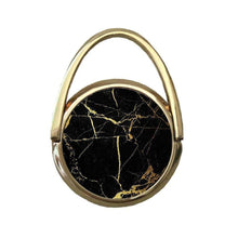 Black Marble with Gold Glitter | Mobile Phone Ring | TheImprint Singapore