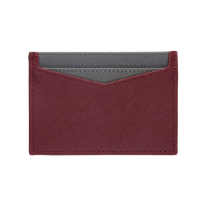 Burgundy - Saffiano Cardholder | Personalise | TheImprint Singapore