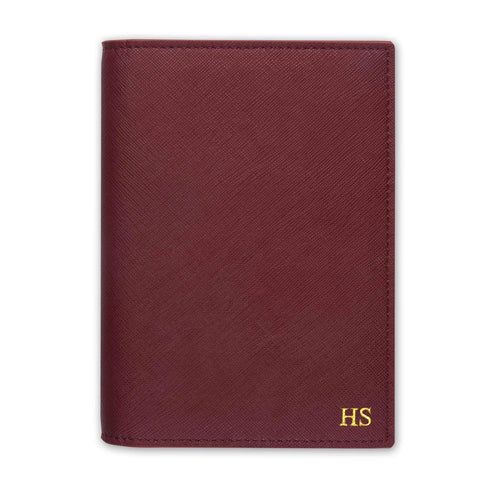 Burgundy - Saffiano Passport Cover | Personalise | TheImprint Singapore