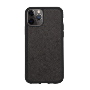 Black iPhone 11 Pro Saffiano Phone Case | Personalise | TheImprint Singapore