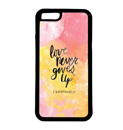 Love Never Gives Up | Phone Case | TheImprint Singapore