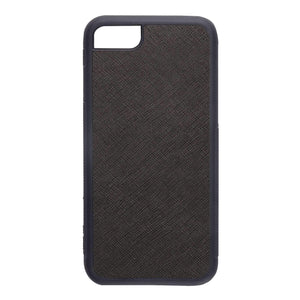 Black - iPhone 7 / 8 Saffiano Phone Case | Personalise | TheImprint Singapore
