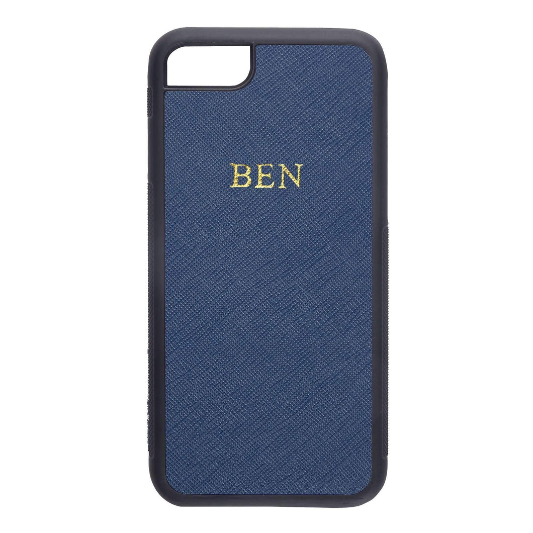Navy - iPhone 7 / 8 Saffiano Phone Case | Personalise | TheImprint Singapore