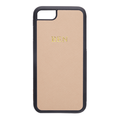 Nude - iPhone 7 / 8 Saffiano Phone Case | Personalise | TheImprint Singapore