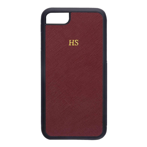 Burgundy - iPhone 7 / 8 Saffiano Phone Case | Personalise | TheImprint Singapore