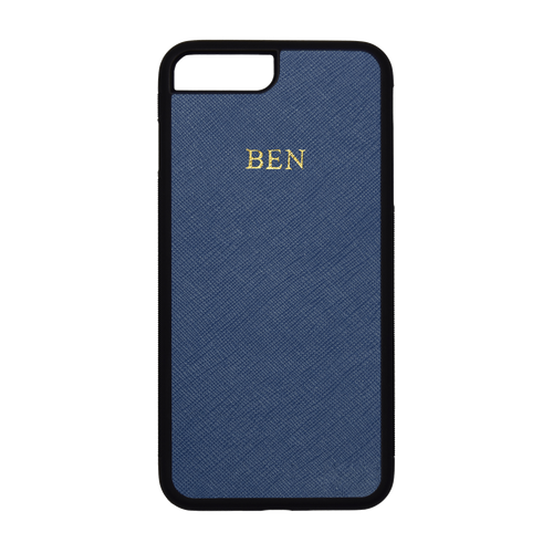 Navy - iPhone 7 Plus / 8 Plus Saffiano Phone Case | Personalise | TheImprint Singapore