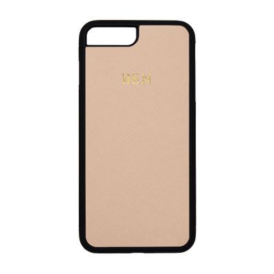 Nude - iPhone 7 Plus / 8 Plus Saffiano Phone Case | Personalise | TheImprint Singapore