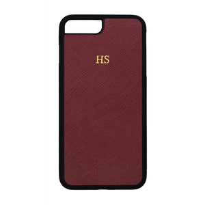 Burgundy - iPhone 7 Plus / 8 Plus Saffiano Phone Case | Personalise | TheImprint Singapore