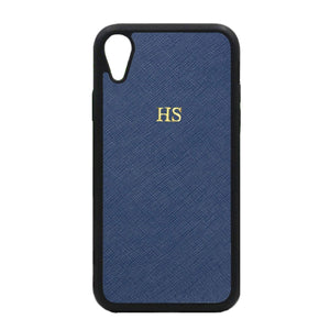 Navy - iPhone XR Saffiano Phone Case | Personalise | TheImprint Singapore