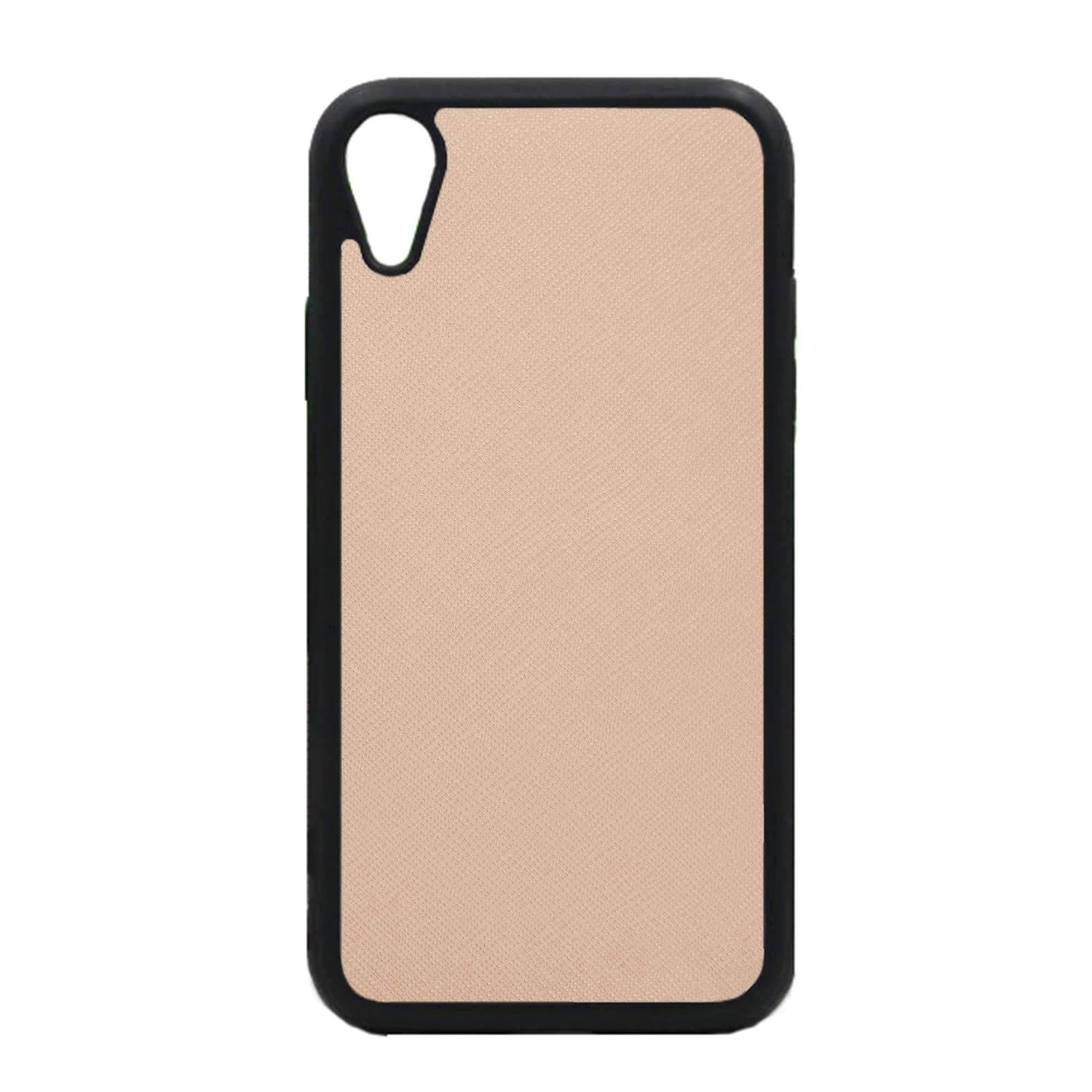 Personalise Iphone Xr Saffiano Leather Phone Case - Nude  Theimprint-7775