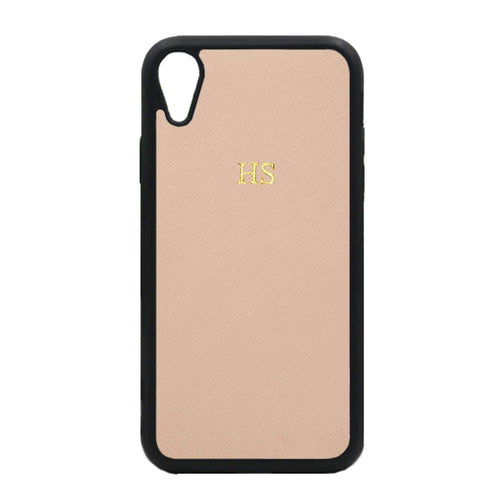 Nude - iPhone XR Saffiano Phone Case | Personalise | TheImprint Singapore