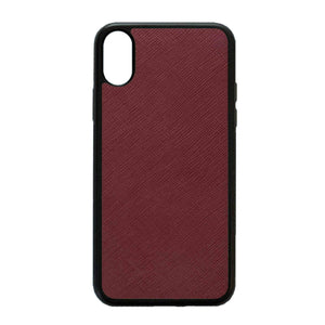 Burgundy - iPhone XS Max Saffiano Phone Case | Personalise | TheImprint Singapore
