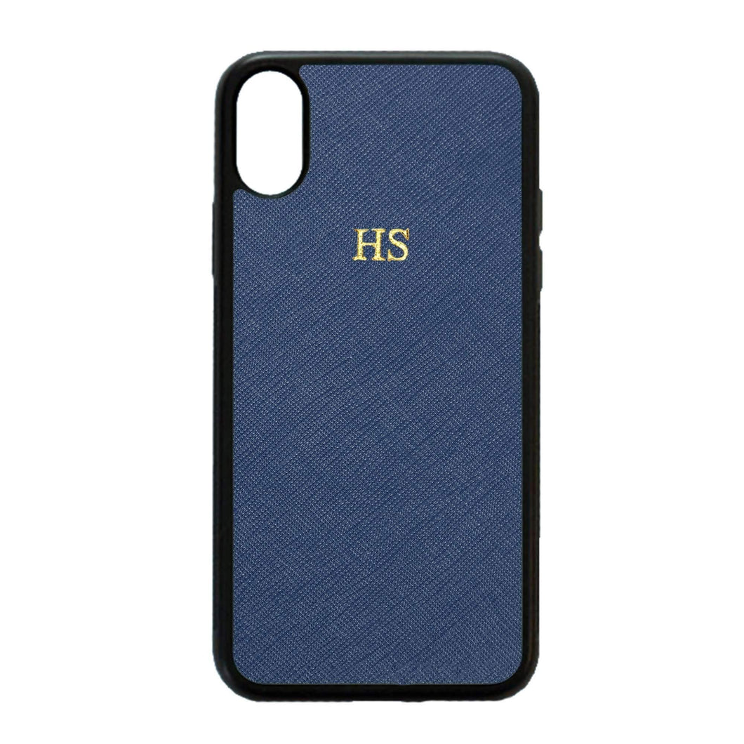 Navy - iPhone XS Max Saffiano Phone Case | Personalise | TheImprint Singapore