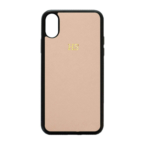 Nude - iPhone XS Max Saffiano Phone Case | Personalise | TheImprint Singapore