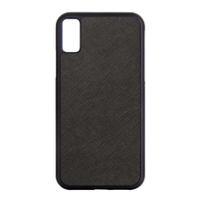 Black - iPhone X / iPhone XS Saffiano Phone Case | Personalise | TheImprint Singapore
