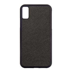 Black iPhone X / iPhone XS Saffiano Phone Case | Personalise | TheImprint Singapore