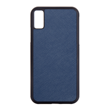 Navy - iPhone X / iPhone XS Saffiano Phone Case | Personalise | TheImprint Singapore
