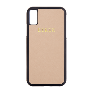 Nude - iPhone X / iPhone XS Saffiano Phone Case | Personalise | TheImprint Singapore