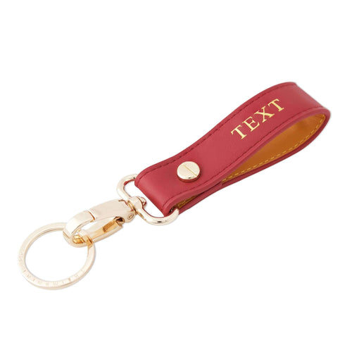 Grain Keychain - Cherry Red / Egg Yolk | Personalise | TheImprint Singapore