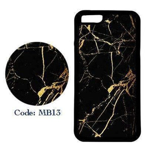 Black Marble with Sparkly Gold | Phone Case | TheImprint Singapore