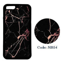 Black Marble with Sparkly Rose Gold | Phone Case | TheImprint Singapore