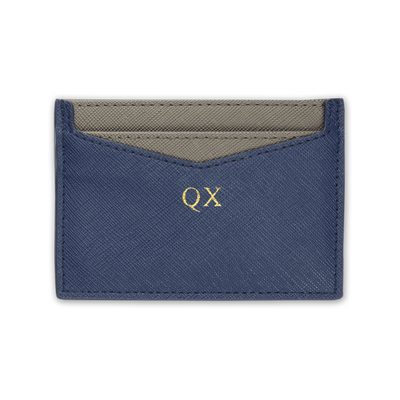 Navy - Saffiano Cardholder | Personalise | TheImprint Singapore