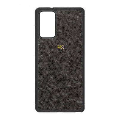 Black - Samsung Note 20 Saffiano Phone Case - THEIMPRINT