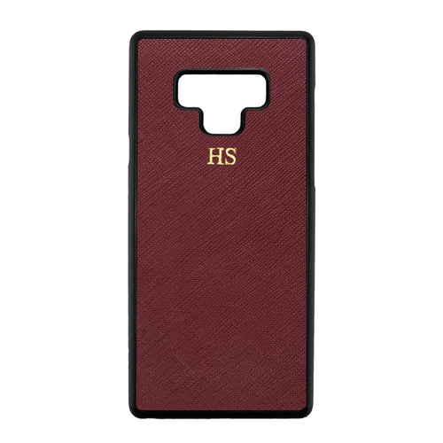 Burgundy - Samsung Note 9 Saffiano Phone Case | Personalise | TheImprint Singapore