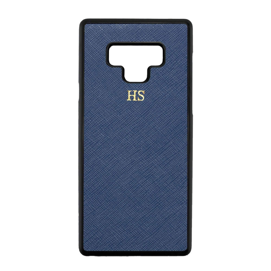 Navy - Samsung Note 9 Saffiano Phone Case | Personalise | TheImprint Singapore
